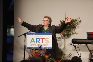 Lorna Boschman at Mayor's Arts Awards 2016. Photo: Tim Matheson.